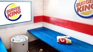 Burger King Finland sauna seen in this Instagram image. (Instagram / burgerking_suomi)