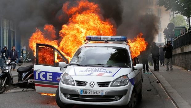 Police Car Burned As French Police Protest Anti Cop Violence Ctv News