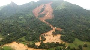 Extended: Aerial view of Sri Lanka mudslide damage