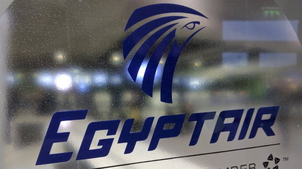 A frosted glass partition is seen at the EgyptAir counter at Charles de Gaulle Airport outside Paris, France, Thursday, May 19, 2016. (Raphael Satter / AP)