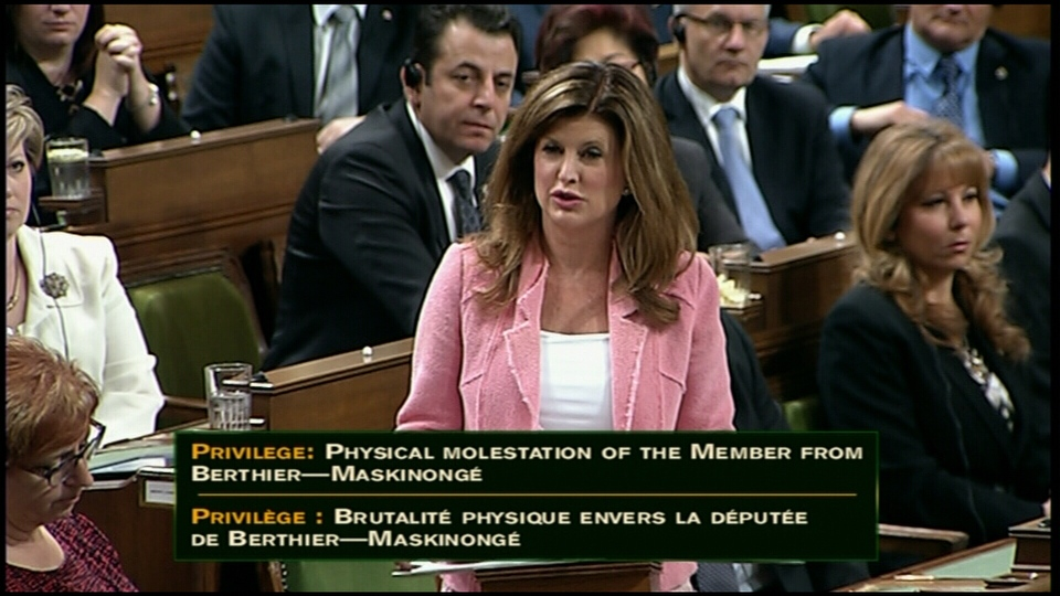 Interim Conservative leader Rona Ambrose makes a statement in House of Commons on Thursday, May 19, 2016.