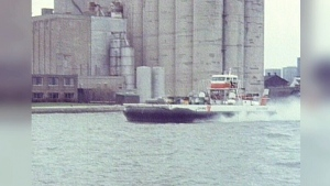 The Canadian Coast Guard tests Bell Aerospace Canada's hovercraft Voyageur on Lake Ontario May 20, 1972.