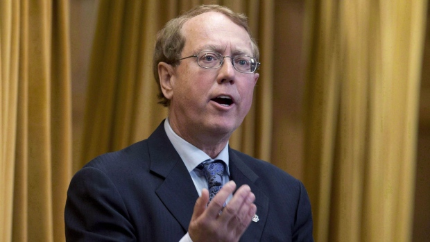 NDP MP Murray Rankin rises to question the government during question period in the House of Commons in Ottawa on December 11, 2012. THE CANADIAN PRESS/Adrian Wyld