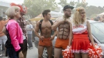 From left: Carla Gallo, Ike Barinholtz, Zac Efron, Seth Rogen and Rose Byrne in a scene from 'Neighbors 2: Sorority Rising.' (Chuck Zlotnick / Universal Pictures)