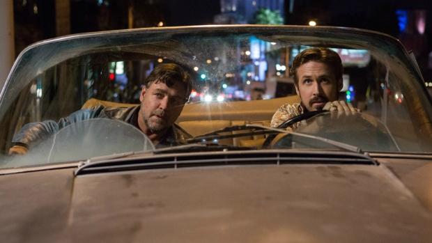 Russell Crowe and Ryan Gosling in 'The Nice Guys.' (Daniel McFadden / Warner Bros. Entertainment)