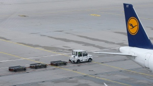 A Lufthansa plane is parked at the airport in Munich, Germany, Wednesday, April 27, 2016. (AP / Matthias Schrader)