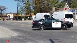 OPP are on the scene of this weekend's second fatal stabbing in Wasaga Beach. (Mike Miller)