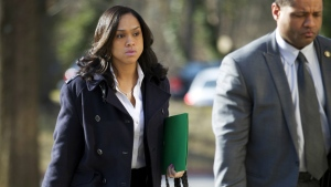 Baltimore State's Attorney Marilyn Mosby, left, arrives at Maryland Court of Appeals in Annapolis, Md. on March 3, 2016. (AP / Jose Luis Magana)