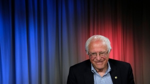 Democratic presidential candidate Sen. Bernie Sanders, I-Vt., smiles during an interview with The Associated Press, Monday, May 23, 2016, in Los Angeles. (AP / Jae C. Hong)