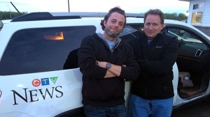 Reporter Shaun Frenette and videographer Richard Blais cover the Fort McMurray fire for CTV News Calgary.