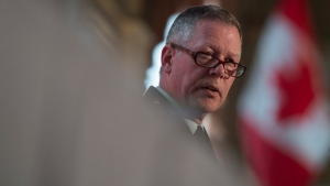 Then-Chief of Defence Staff Jonathan Vance delivers a speech to the Chamber of Commerce in Ottawa, Tuesday May 24, 2016. (Adrian Wyld / THE CANADIAN PRESS)