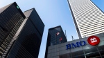 The BMO office tower is shown in Toronto's financial district in Toronto on Tuesday, April 5, 2016. (Nathan Denette / The Canadian Press)