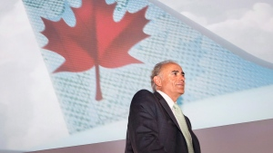 Air Canada CEO Calin Rovinescu poses while arriving at the company's annual general meeting in Toronto, on Tuesday, May 12, 2015. (THE CANADIAN PRESS/Darren Calabrese)