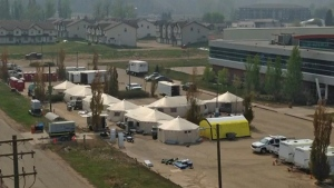 A field hospital was set up in Fort McMurray after a devastating wildfire damaged the city's main hospital.