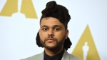 In this Feb. 8, 2016 file photo, The Weeknd arrives at the 88th Academy Awards nominees luncheon in Beverly Hills, Calif. (Photo by Jordan Strauss/Invision/AP, File)