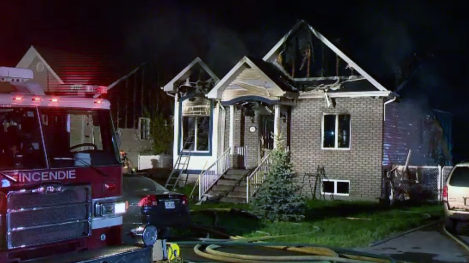 Most of this home in Terrebonne was badly damaged by a fire (CTV Montreal/Cosmo Santamaria)