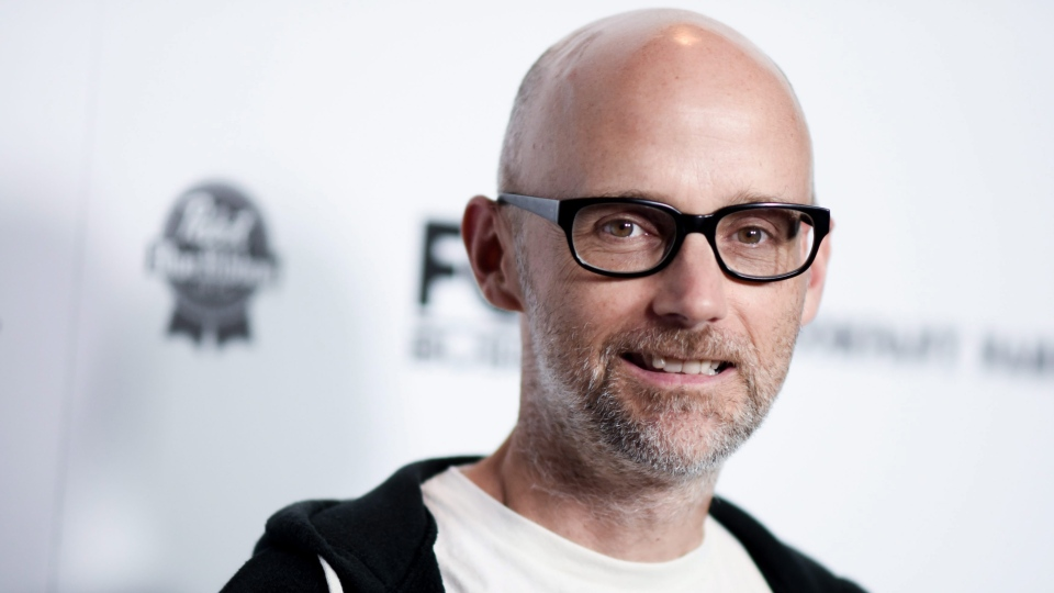 Moby arrives at the LA premiere of