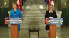 Premiers Notley, Wynne speak in Edmonton