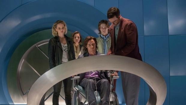 Jennifer Lawrence, Rose Byrne, James McAvoy, Lucas Till and Nicholas Hoult in 'X-Men: Apocalypse.' (Alan Markfield / TM)