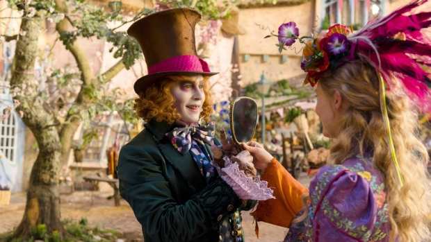 Johnny Depp as the Mad Hatter and Mia Wasikowska as Alice in 'Alice Through the Looking Glass.' (Peter Mountain / Walt Disney Studios Motion Pictures)