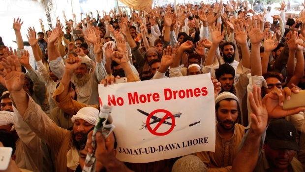 Jamaat-ud-Dawa supporters in Lahore