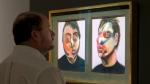 In this Friday, March 29, 2016 photo, Francis Bacon's 'Two Studies for a Self-Portrait' is viewed during the spring auction preview at Sotheby's, in New York. (AP Photo / Richard Drew, File)