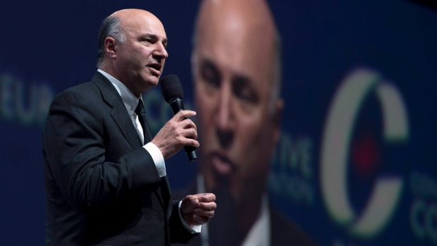 Canadian businessman Kevin O'Leary speaks during the Conservative Party of Canada convention in Vancouver, Friday, May 27, 2016. (Jonathan Hayward / THE CANADIAN PRESS)
