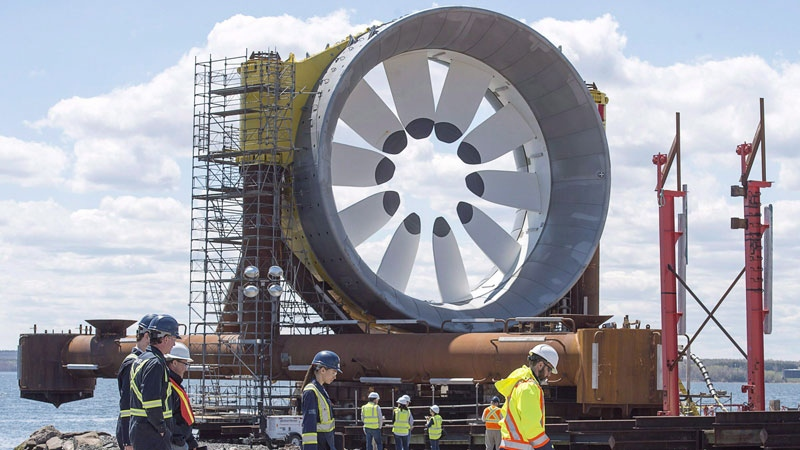 A turbine for the Cape Sharp Tidal project