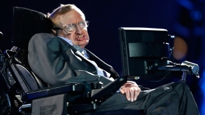 Professor Stephen Hawking in London, on Aug. 29, 2012. (Matt Dunham / AP)