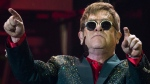 Musician Elton John performs at his concert in the Crocus City Hall outside Moscow, Russia, Monday, May 30, 2016. (AP Photo / Pavel Golovkin)