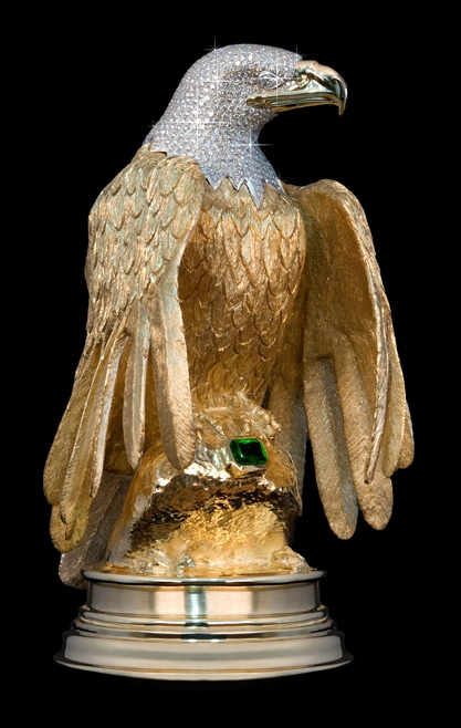 The eagle statue is shown in an undated handout photo.