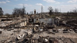 The devastated neighbourhood of Beacon Hill is shown in Fort McMurray, Alta., on Friday, May 13, 2016. (THE CANADIAN PRESS / Jason Franson)