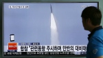 A man watches a TV news program reporting about a missile launch of North Korea, at the Seoul Train Station in Seoul, South Korea on Tuesday, May 31, 2016. (AP / Lee Jin-man)