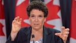 Julie Gelfand, Canada's commissioner of the environment and sustainable development, addresses a news conference in Ottawa, Tuesday, Oct.7, 2014. (Adrian Wyld / THE CANADIAN PRESS)