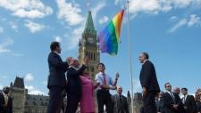 Parliament Hill pride flag