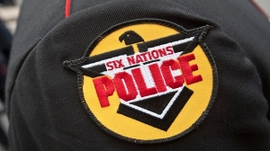 File photo of Six Nations Police badge. (The Canadian Press Images/Francis Vachon)