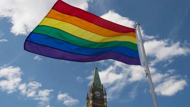 Pride flag raised on Parliament Hill