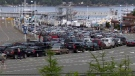 BC Ferries' Swartz Bay terminal had a two-sailing wait by 1 p.m. on an unusually busy Wednesday, June 1, 2016. (CTV Vancouver Island)