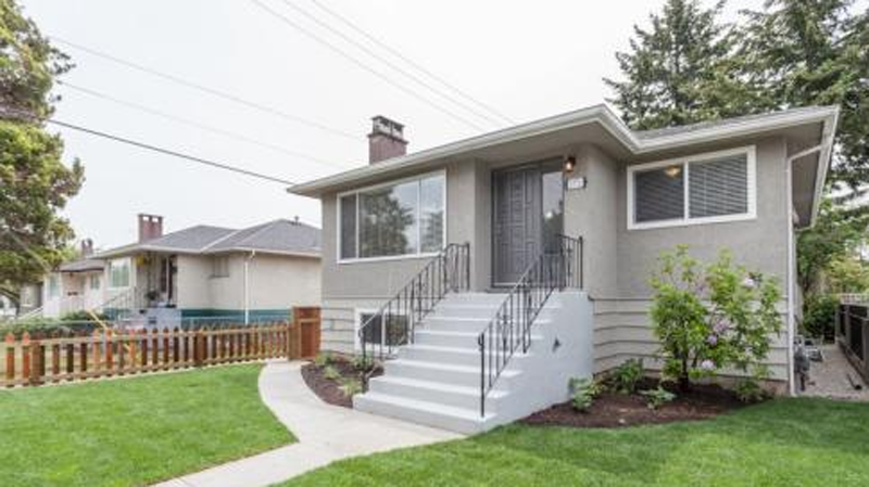 This 1950s bungalow with a one-bedroom basement suite on Vancouver's East Side is listed for $1.498-million. (Realtor.ca)