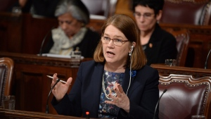 Health Minister Jane Philpott testifies about the assisted-dying bill before the Senate, in Ottawa, on Wednesday, June 1, 2016. (THE CANADIAN PRESS/Adrian Wyld)
