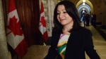 Peterborough-Kawartha MP Maryam Monsef leaves after speaking to reporters in the House of Commons, in Ottawa, on Thursday, June 2, 2016. (THE CANADIAN PRESS/Sean Kilpatrick)