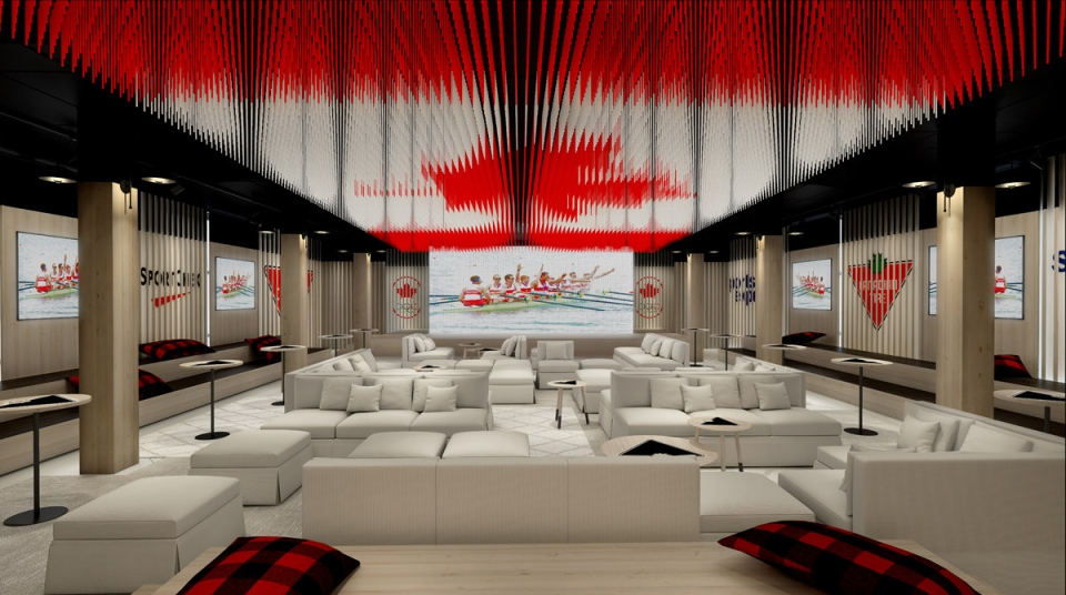 Designs for Canada Olympic House, the athletes' home base at the Rio 2016 Summer Olmypics, is seen in this provided photo. (CNW Group / Canadian Olympic Committee)