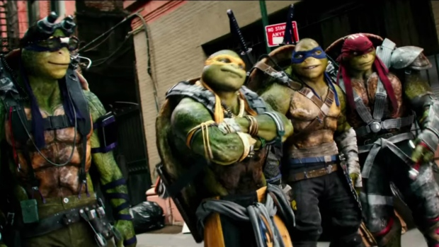 Characters Donatello, Michelangelo, Leonardo and Raphael are seen in 'Teenage Mutant Ninja Turtles: Out of the Shadows.'