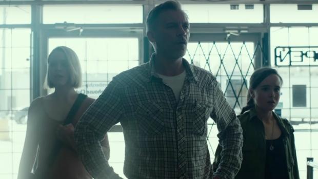 Evan Rachel Woods, Callum Keith Rennie and Ellen Page in 'Into the Forest.'