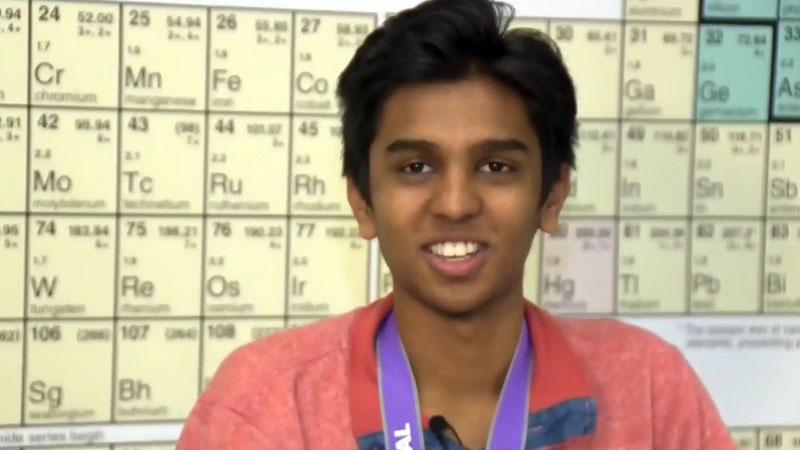 Calgary high school student and scientist Zeel Patel