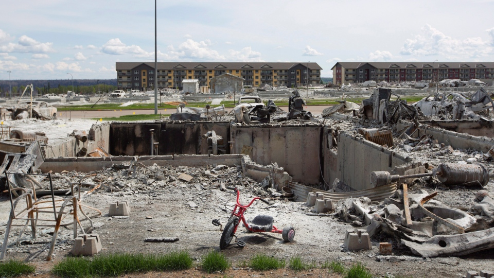 The devastated area of Timberlea in Fort McMurray Alta, on Thursday, June 2, 2016. (Jason Franson / THE CANADIAN PRESS)