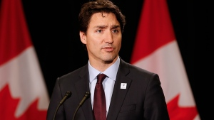 Prime Minister Justin Trudeau speaks to media at the Federation of Canadian Municipalities 2016 Annual Conference in Winnipeg on Friday, June 3, 2016. (John Woods / THE CANADIAN PRESS)