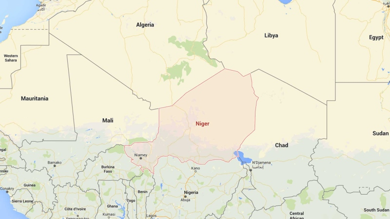 Niger is indicated on this Google Maps image. (Google)