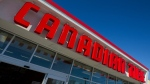 The entrance to a Canadian Tire store is photographed. (THE CANADIAN PRESS IMAGES/Lars Hagberg)