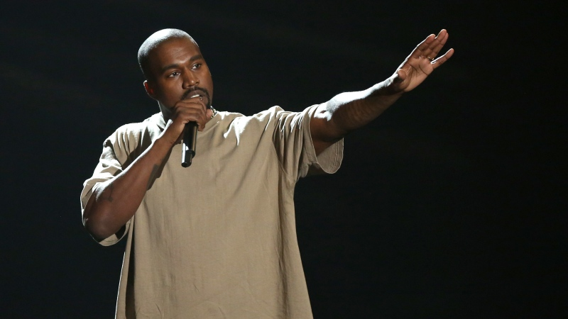 FILE - In this Sunday, Aug. 30, 2015, file photo, Kanye West accepts the video vanguard award at the MTV Video Music Awards at the Microsoft Theater in Los Angeles. (Photo by Matt Sayles/Invision/AP, File)